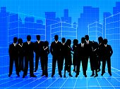 Business People Shows Businesspeople Corporate And Teamwork