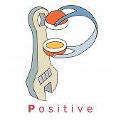 Letter P-positive