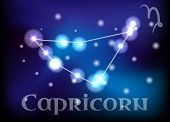image of capricorn  - Capricorn horoscope or zodiac or constellation illustration - JPG