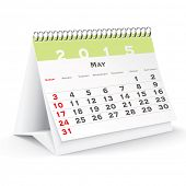 May 2015 desk calendar - vector illustration