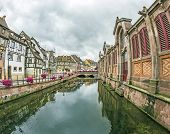 Canal In Little Venice In Colmar, France