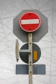 Traffic Signs Safety Transportation Abstract Line Background