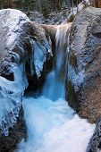 Frozen Mountain Torrent, Winter Wonderland Germany