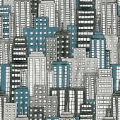 pic of hustle  - Illustration of a hand drawn cityscape background - JPG