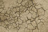 Cracked Dry Soil Background