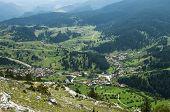 View of mountain village