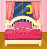 Illustration of a bedroom