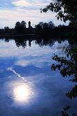 Moor Lake With Moonlight Scenery