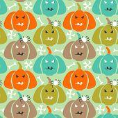 Retro halloween Background