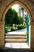 Entrance Into The Backyard Of A Mosque In Nicosia, Cyprus