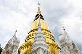Pagoda At Wat Suan Dok In Chiang Mai, Thailand