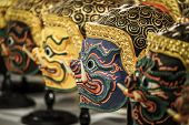 Hua Khon (Thai Traditional Mask) Used in Khon - Thai traditional dance of the  Ramayana Saga