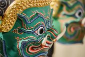 Thai Traditional Mask Used in Thai traditional dance of the Ramayana Saga