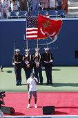The opening ceremony before US Open 2013 women final match at National Tennis Center
