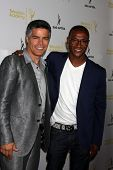 LOS ANGELES - AUG 12:  Esai Morales, Tommy Davidson at the Dynamic & Diverse:  A 66th Emmy Awards Ce