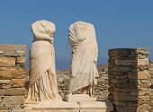 picture of cleopatra  - Ruins of Cleopatra house Delos island Greece - JPG