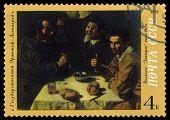 Vintage  Postage Stamp. Breakfast, By Velazquez.