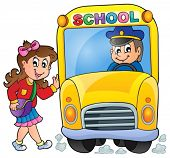 Image with school bus theme 7 - eps10 vector illustration.