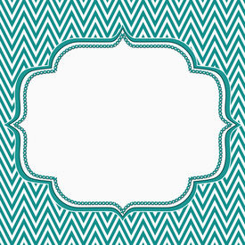 foto of chevron  - Teal and White Chevron Zigzag Frame Background with center for copy - JPG
