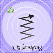A letter Z which stands for zigzag