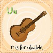 foto of ukulele  - Illustration of an alphabet U is for ukulele - JPG