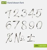 picture of arabic numerals  - Vector handwritten arabic numerals set - JPG