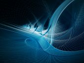 Digital technology abstract blue background design
