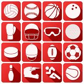 Set of sport icons in flat design