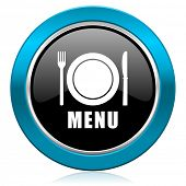 menu glossy icon restaurant sign