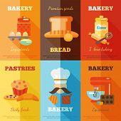Bakery mini poster set