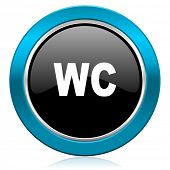 toilet glossy icon wc sign