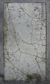 Large Slate Tile Of Cracked Worn Damaged White Marble