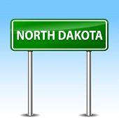 North Dakota Green Sign