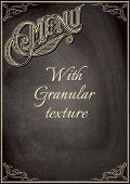 Black Chalkboard With A Granular Texture