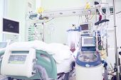Chamber In Intensive Care Unit Occupied By Seriously Ill Patients
