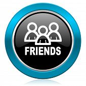 friends glossy icon