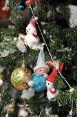Santa Snowman Doll Ball Tree