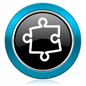 puzzle glossy icon