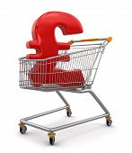 Shopping Cart with Pound  (clipping path included)