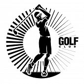 Golf. Vector illustration in the engraving style