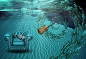 picture of surrealism  - Surreal Underwater Scene - JPG