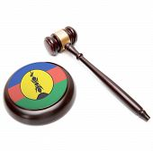 Judge Gavel And Soundboard With National Flag On It - New Caledonia