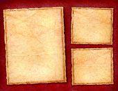 Burgundy Parchment Frames