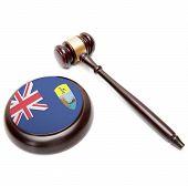 Judge Gavel And Soundboard With National Flag On It - Saint Helena