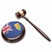 Judge Gavel And Soundboard With National Flag On It - Turks And Caicos Islands