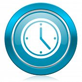 time blue icon watch sign