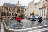 Paris. Stravinsky Fountain.