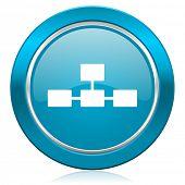database blue icon