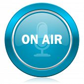 on air blue icon