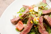 Meat With Rocket Salad